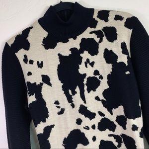 Patrick Kelly Dresses - Patrick Kelly Paris Cowhide Print Wool Dress